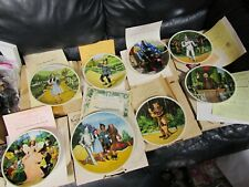Set of 8 Wizard of Oz collectible plates Knowles Collection with Coa