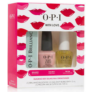 OPI O•P•I WITH LOVE - 3 PIECE GIFT SET  **BRAND NEW**