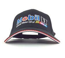 Mobil 1 Official Motor Oil of NASCAR Embroidered Black Baseball Cap Hat Adj Adul