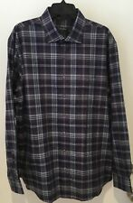 Bobby Jones Men's Extra Large Navy Multi Plaid Long Sleeve Shirt NWT $165