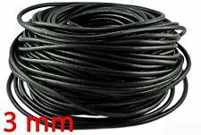 1m Lederschnur 2mm schwarz Lederband Leder Rundschnur 1648-1E