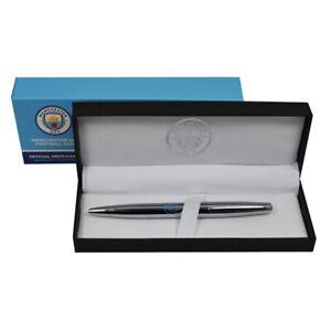 Official Manchester City Executive Chrome Ballpoint Pen