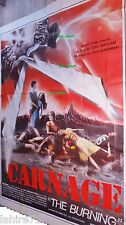 CARNAGE the burning  ! affiche cinema geante horreur 240x320cm !!
