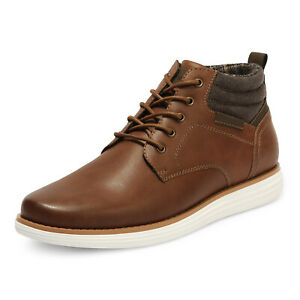 Bruno Marc Men's Mid Top Chukka Boots Lace Up Stylish Dress Water-Resistant Shoe