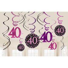 Amscan 9900605 Celebration 40th Swirl Decorations