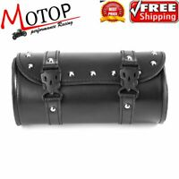 Motorcycle PU Leather Saddlebag Roll bag Storage Tool Pouch   YT