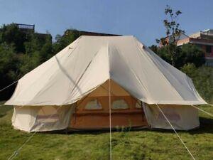6Mx4M Emperor Bell Tent Safari Glamping Tent Waterproof Camping Tent Canvas