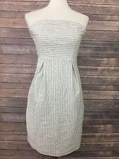 Old Navy Strapless Sheath Grey Stripe Dress - Xsmall
