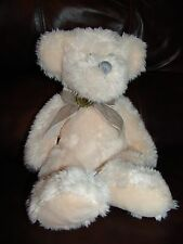 "Russ Berrie and Company Millennium the Cream Teddy Bear Plush Beanie Doll 15"""