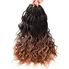 35 Roots Ombre Crochet Twist Braids Synthetic Wavy Curly Braiding Hair Extension