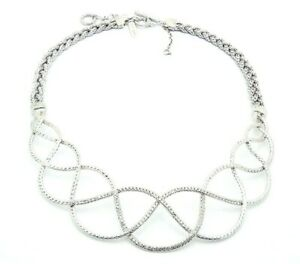 """John Hardy 18-1/4"""" Adjustable Toggle Necklace with Diamonds in Sterling Silver"""