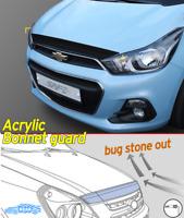 Acrylic Smoke Black Bonnet Hood Deflector D-699 Black for Chevy Spark 2016~2019