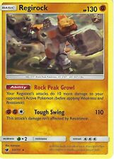 POKEMON SUN & MOON CRIMSON INVASION CARD: REGIROCK - 53/111 - RARE