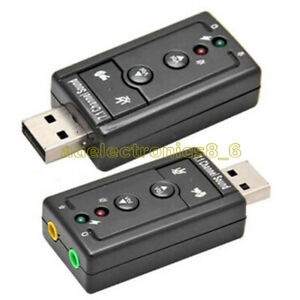 NEW Mini USB 2.0 7.1 Channel Audio Sound Card Sound Adapter For PC Laptop