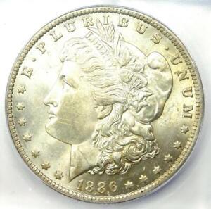 1886-O Morgan Silver Dollar $1 - Certified ICG MS62 (BU UNC) - $1,620 Value!