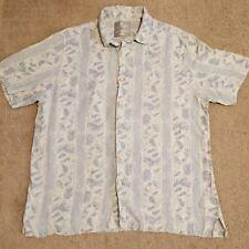 Margaritaville XL Blue Gray Short Sleeve Button Down Tropical Hawaiian Shirt