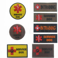 Medical SERVICE DOG IN TRAINING Embroidered Tactical Morale Hook Patch Badge
