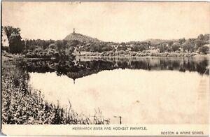 Merrimack River and Hookset Pinnacle NH Vintage Postcard A26