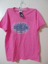 NWT Beantown Boston Pink Children's Short Sleeve Preshrunk Cotton Shirt Sz M