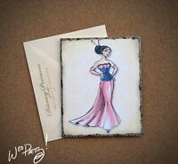 2011 Disney Designer Doll Princess Note Card MULAN - Steve Thompson Art
