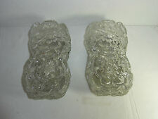 Pair Mit Century 60´s Flower Power Glass Wall Lamp Sconces #<