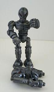 "Rawshark Callgrim Eyegee Action Figure Silver Metallic Glyos Onell Design PVC 4"""