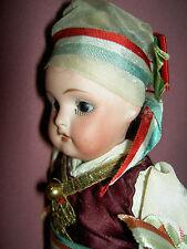 German antique bisque, Heubach Koppelsdorf, sockethead ITALIAN costume doll