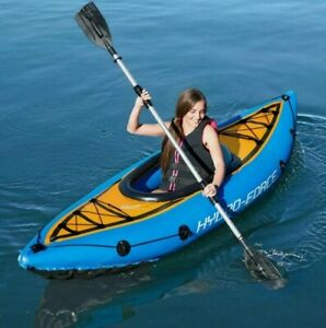 Bestway Cove Champion Inflatable Single Individual Kayak - Includes Oar And Pump