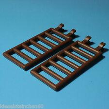 #308-6020  LEGO®  2 rotbraune 7x3 Zaun Gitter Leiter mit 2 Clips NEU/NEW