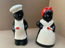 Him and Her Salt & Pepper Shakers Black White Red