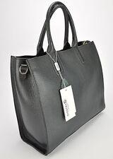 Borsa donna shopping bag pelle bovina di prima scelta realizzata a mano. NERO