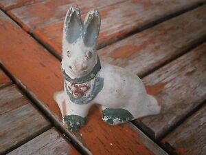 ANTIQUE VINTAGE CERAMIC WHISTLE A RABBIT
