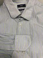 Hugo Boss Men Shirt Long Sleeve Button Up Down Regular Fit 16.5 32/33 Large L