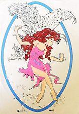 Original Vintage Fantasy Fairy Iron On Transfer
