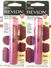 2 New Revlon Kiss Lasting Hydration w Natural Fruit Oil Lip Balm #Berry Burst