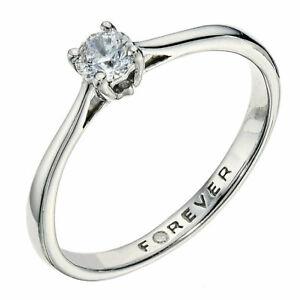 FOREVER DIAMOND Ring H Samuel Palladium 950 0.28 Carat  Size J.5 - K  RRP £999