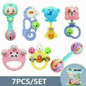 Baby Kids Rattle Toys Set Hand Bell Music Sensory Baby Toys Shaker Gift 7Pcs