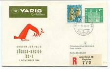 FFC 1966 Varig Airlines First Flight DC 8 Zurich Recife Brasilien REGISTERED