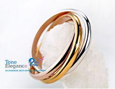 9ct white rose yellow gold GF engagement wedding ladies rings