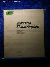 Sony Bedienungsanleitung TA F110 / F210 Stereo Amplifier  (#0347)