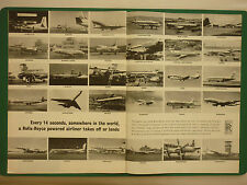 4/1965 PUB ROLLS-ROYCE 110 AIRLINES AIRLINER AIR INDIA BKS SAS AVRO 748 VC10 AD