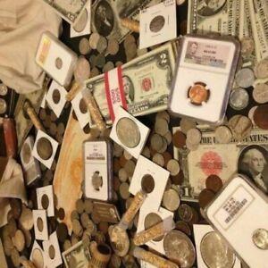 🔥Collection Estate Sale Coins 🔥 Auction Lot Vintage Silver Bullion 🔥 Currency