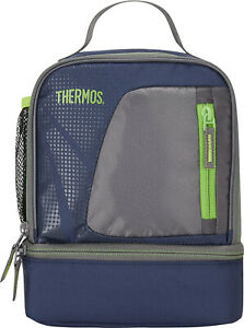Dual Compartment Insulated Lunch Bag Thermos Lunchbox For Men Women Kids Adults