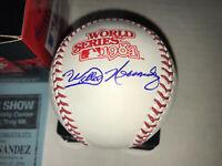 Willie Hernandez signed autographed 1984 World Series baseball Detroit Tigers