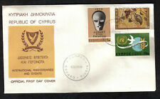 Cyprus Stamps SG 351-53 1970 Anniversaries and Events FDC Kibris