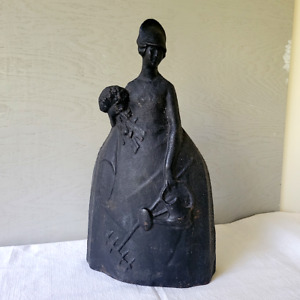 """Antique 15"""" Cast Iron """"Mary Quite Contrary"""" Doorstop by National Foundry c1900"""
