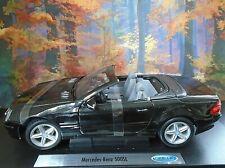 Welly Black Mercedes-Benz SL500 Convertible Scale 1:18 Die-Cast Model Car
