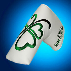 Clover 1xGolf Putter Cover Blade Headcover Smile Sunflower Head Cover Pu Leather