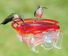 Aspects The Gem Window Hummingbird Bird Feeder 4 oz, 2 Ports #437 Bright Red