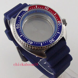 BLIGER Fit For NH35A/NH36A Brushed 45mm Watch Case Sapphire Glass 5ATM Waterproo